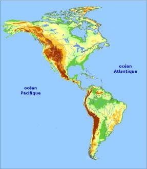 Carte Amerique Physique.Cartograf Fr Les Cartes Des Continents L Amerique