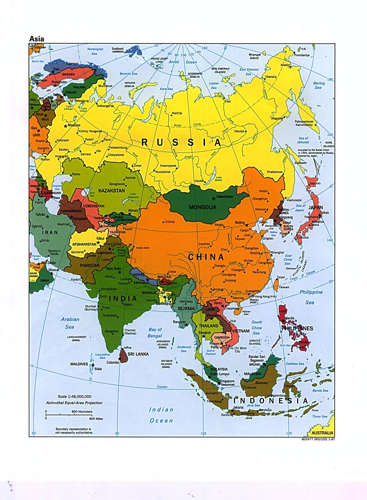 Carte Asie Avec Villes.Cartograf Fr Les Cartes Des Continents L Asie