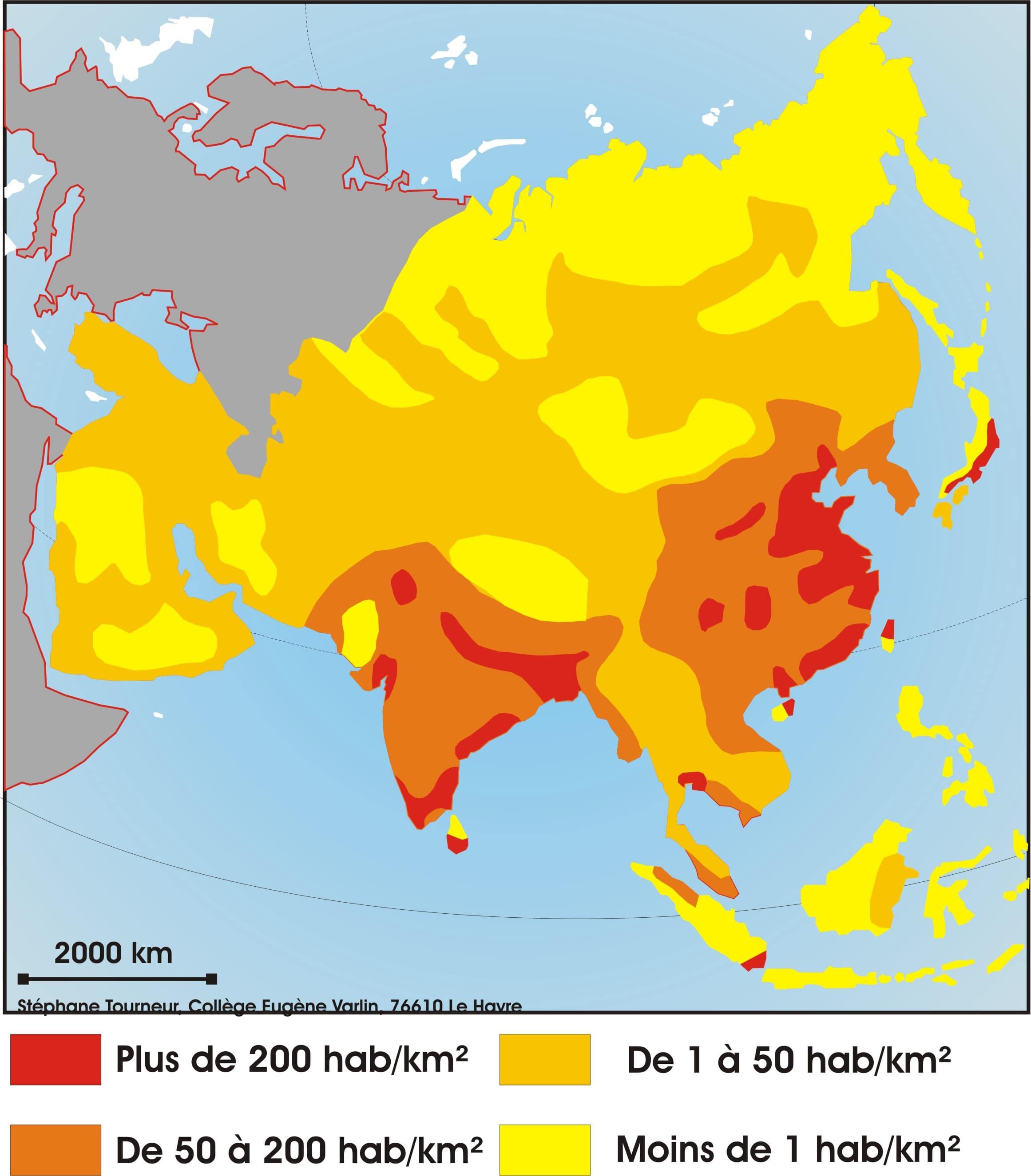 Carte Accroissement Naturel Asie.Cartograf Fr Les Cartes Des Continents L Asie