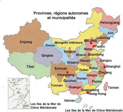 Carte Chine Villes Provinces.Cartograf Fr La Chine