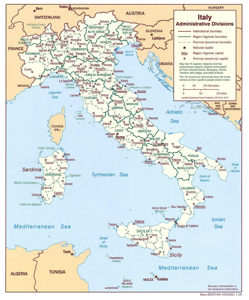 Carte Italie Regions.Cartograf Fr Les Cartes De L Italie