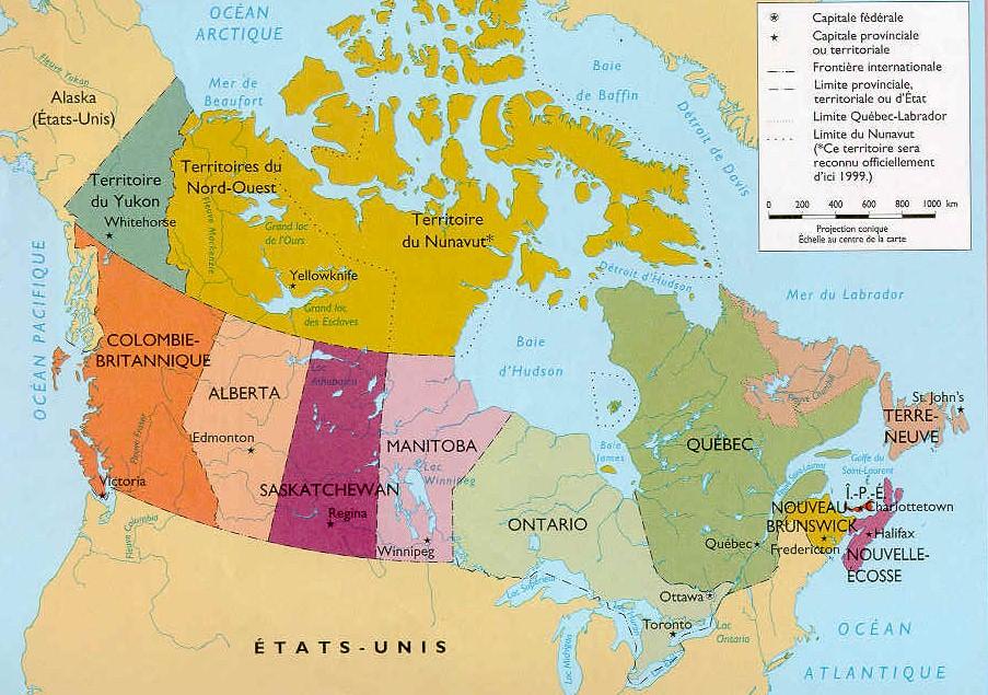 Cartograf.fr : Lespays : Carte du Canada