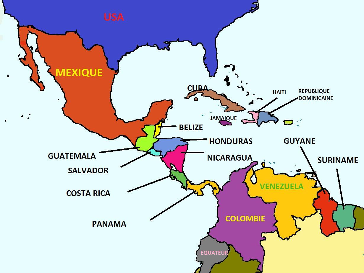 Carte Pays Amerique Centrale.Cartograf Fr Carte Amerique Page 2