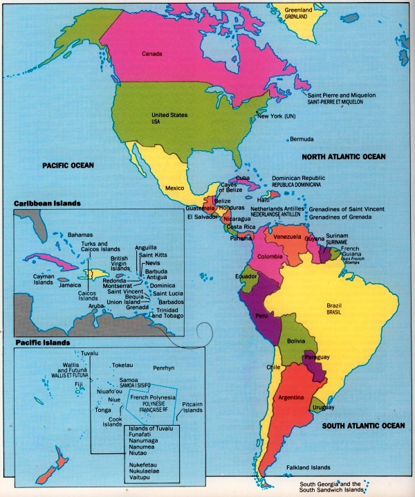 carte amerique -
