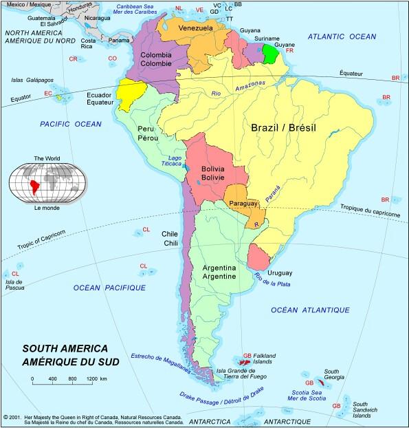 Carte Amerique Du Sud Avec Grandes Villes.Cartograf Fr Carte Amerique Page 2