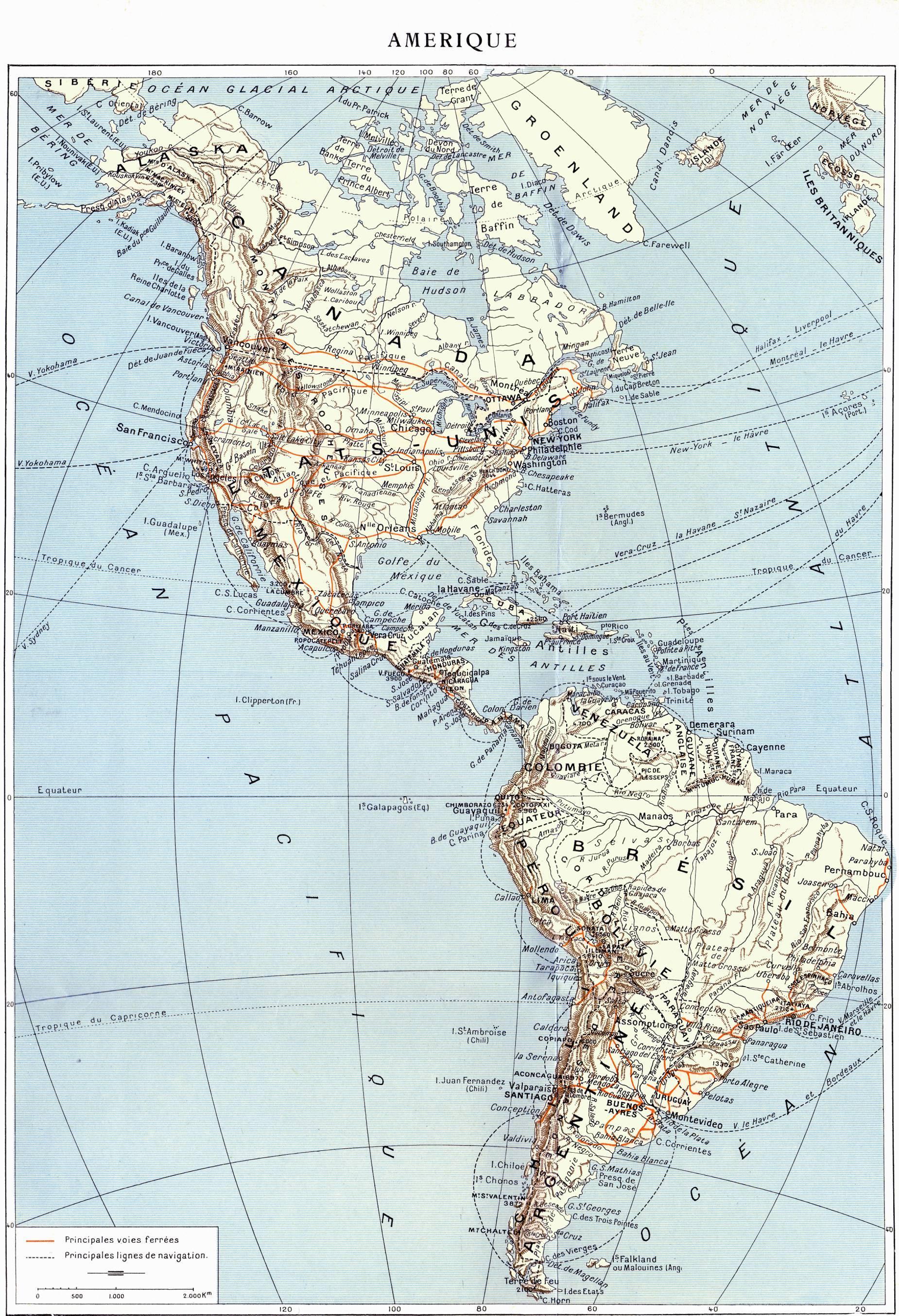 Carte Amerique Physique.Cartograf Fr Carte Amerique Page 2