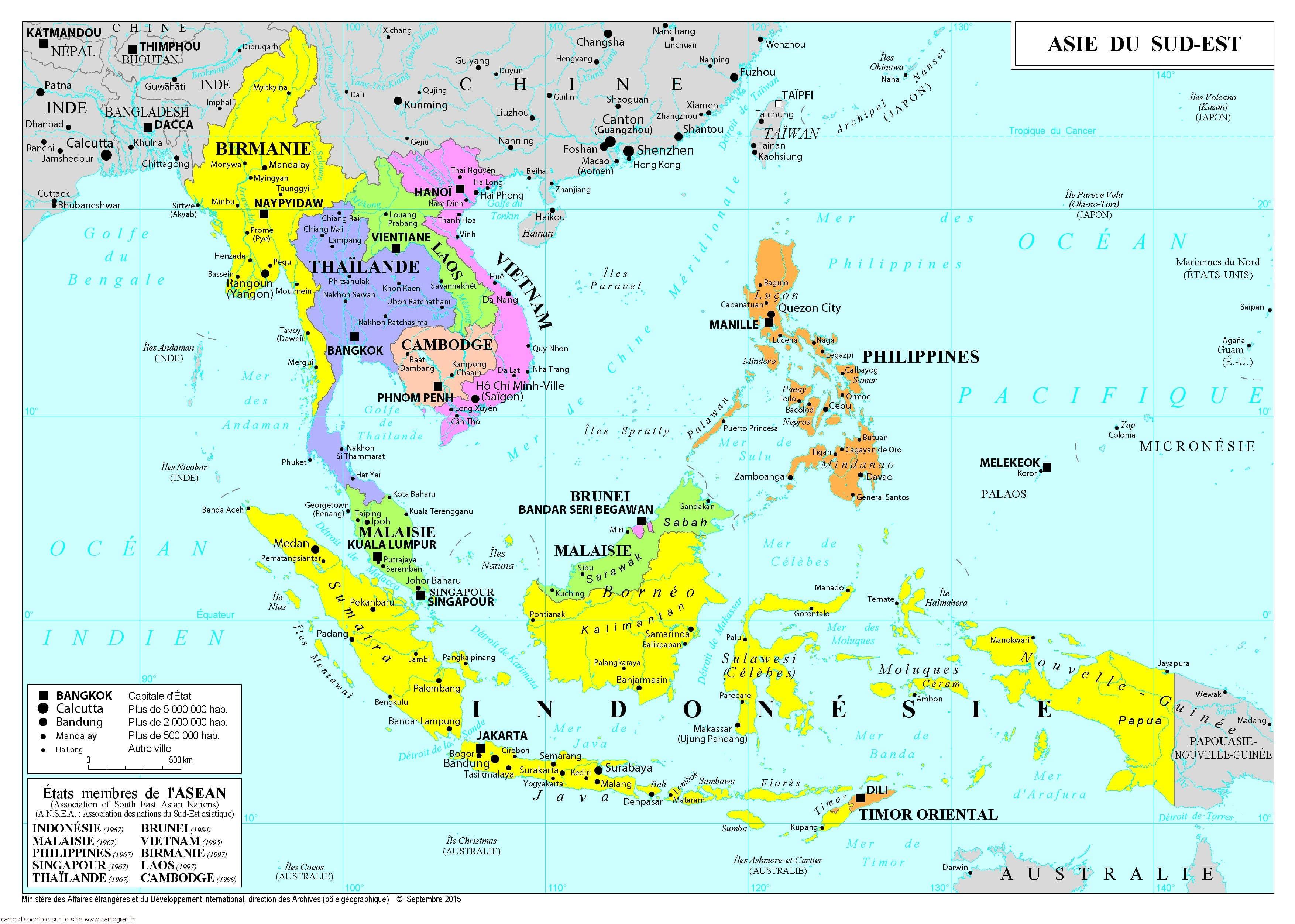 Carte De Lasie Et Oceanie.Cartograf Fr Les Cartes Des Continents L Asie Page 2