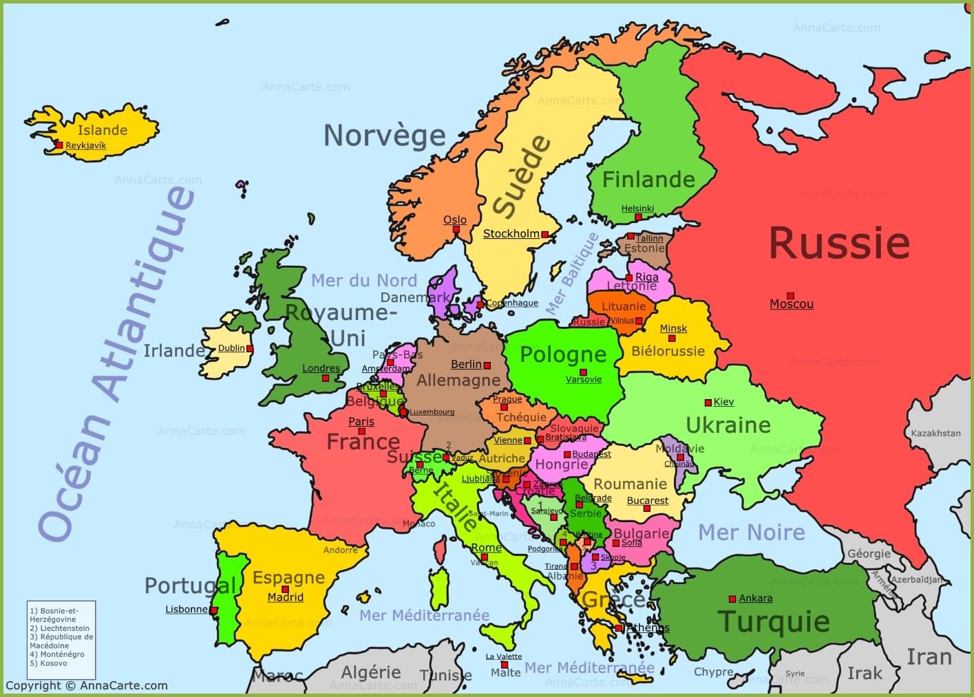 Carte De Leurope Avec Les Mers.Cartograf Fr Carte Europe Page 8