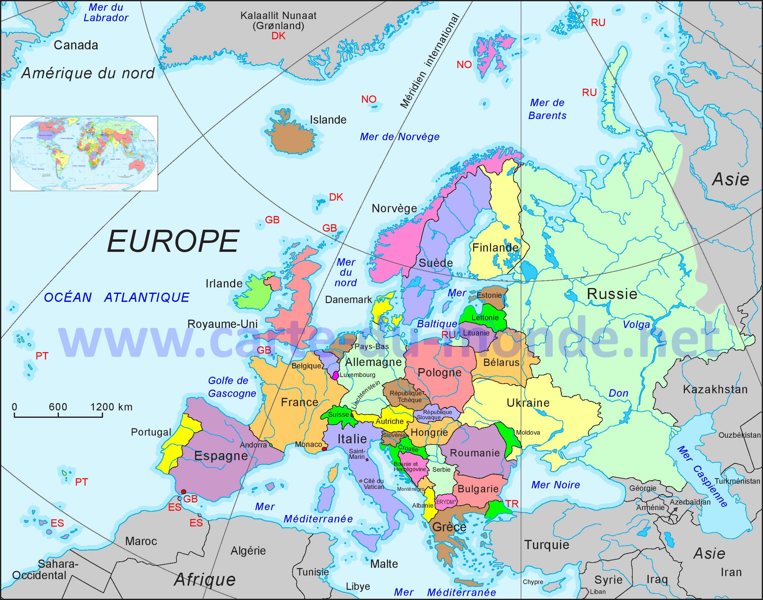 Carte Routiere Europe Du Nord.Cartograf Fr Carte Europe Page 7