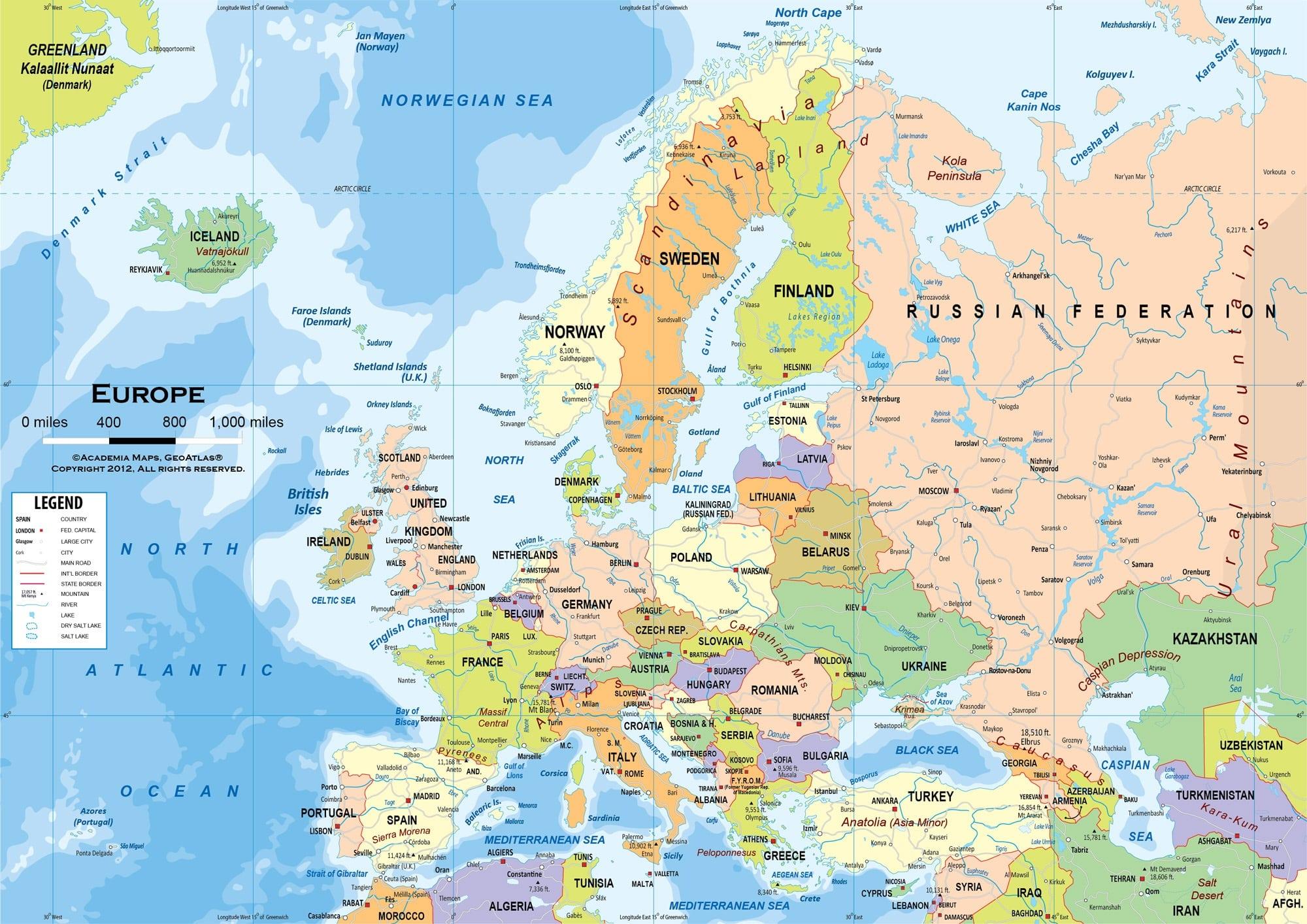 Carte De Leurope Avec Les Villes.Cartograf Fr Carte Europe Page 7