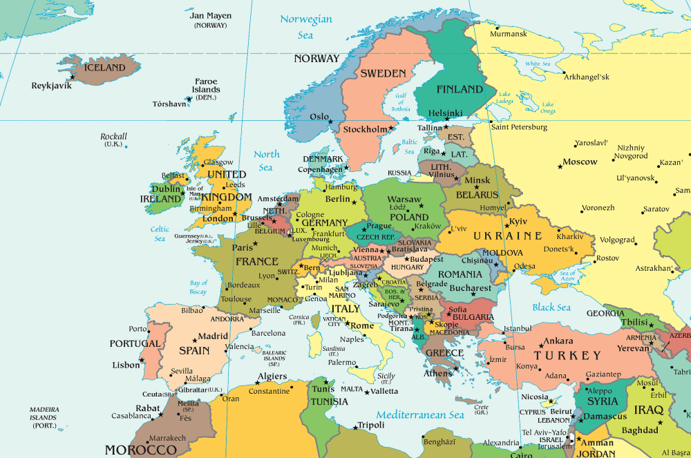 Carte De Leurope Avec Ses Capitales.Cartograf Fr Les Cartes Des Continents L Europe Page 6