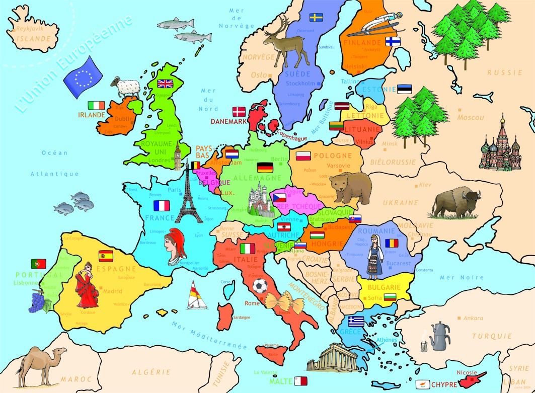 Carte D Europe Cm1 | casamagenta