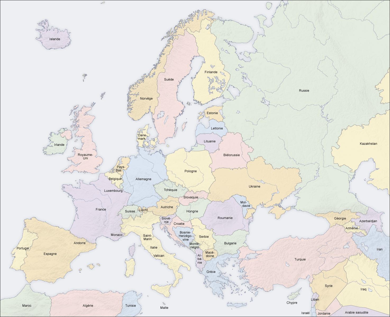 Cartograf.fr : Les cartes des continents : L'Europe : page 2