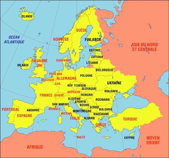 Carte Europe Geographique.Cartograf Fr Les Cartes Des Continents L Europe Page 3