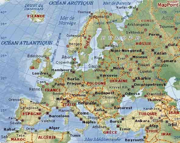 Carte Europe Relief Et Fleuves.Cartograf Fr Les Cartes Des Continents L Europe Page 4