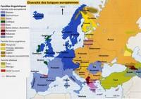 Carte de la diversité des langues en Europe avec les familles de langues et les minorités