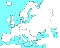 Carte de l'Europe vierge sans les frontières et les villes