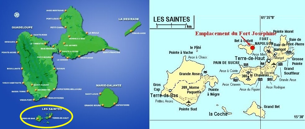 Cartograf.fr : France : Dom Tom : Guadeloupe