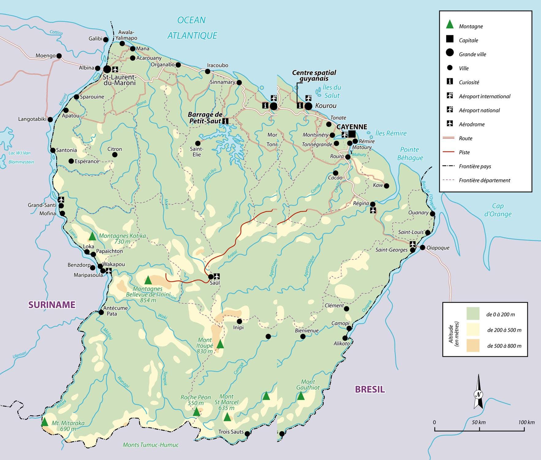 carte de la guyane - Image