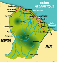 Carte de la Guyane simple