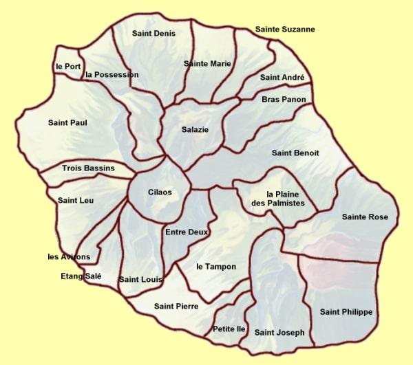 Cartograf.fr : France : Dom-Tom : La Réunion