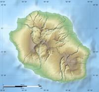 Carte de la Réunion avec le relief et les échelles