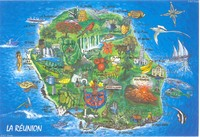 Carte de la Réunion décorative
