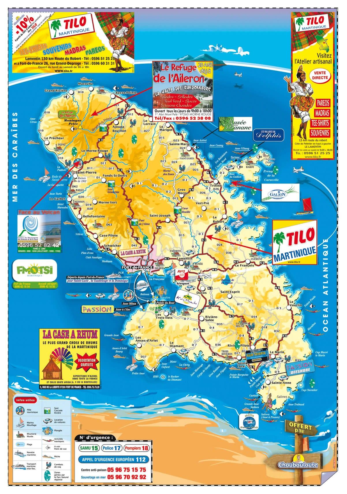Cartograf.fr : France : Dom-Tom : Martinique