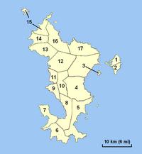 Carte de Mayotte administrative avec les communes