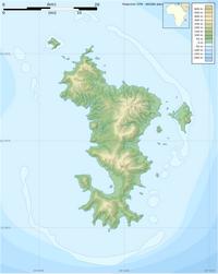 Carte de Mayotte vierge avec l'altitude et le relief