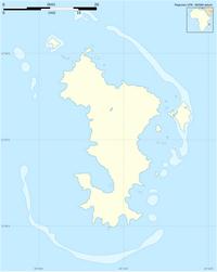 Carte de Mayotte vierge avec les échelles