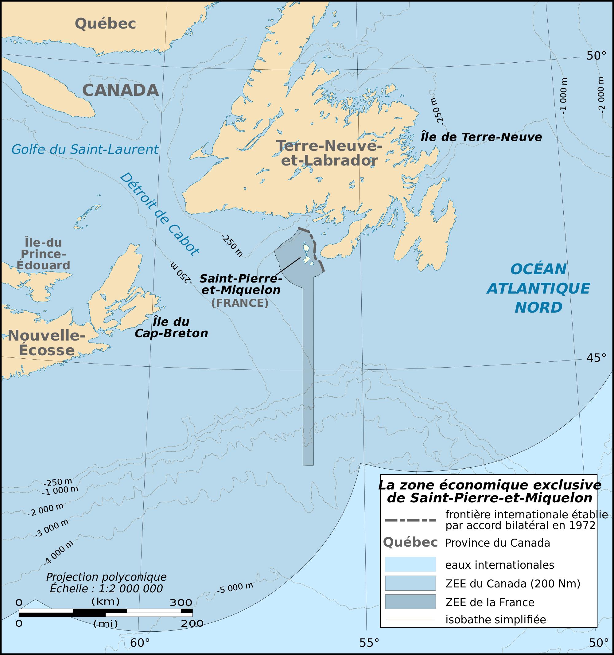 Saint Pierre Et Miquelon Carte Ville Relief