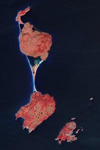 Carte satellite de Saint-Pierre-Et-Miquelon