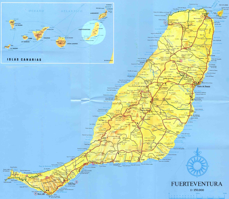 Cartograf.fr : L'Espagne : Les iles Canaries : Fuerteventura