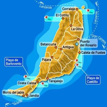 Carte Espagne Fuerteventura.Carte Fuerteventura Carte