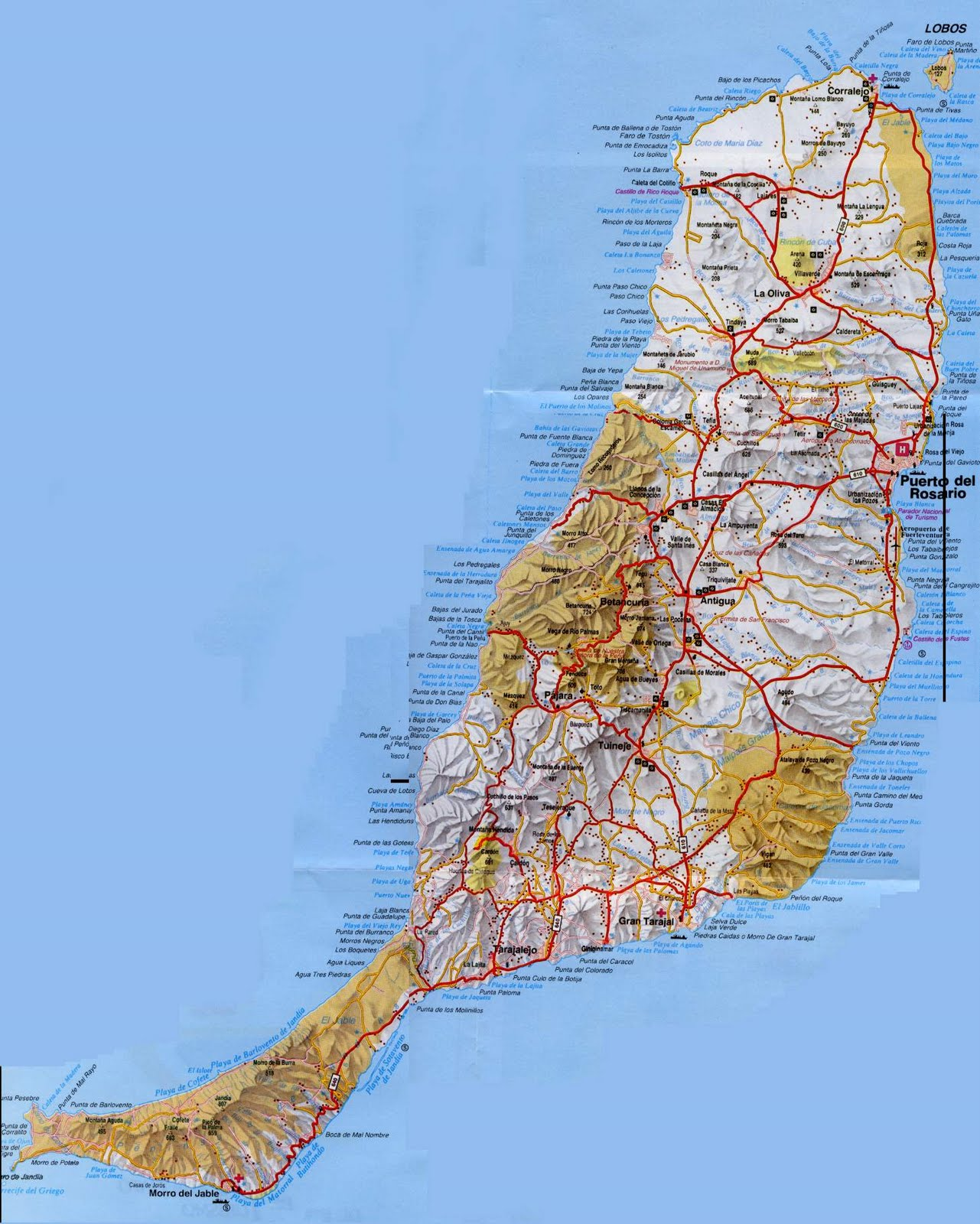 Cartograf Fr L Espagne Les Iles Canaries Fuerteventura