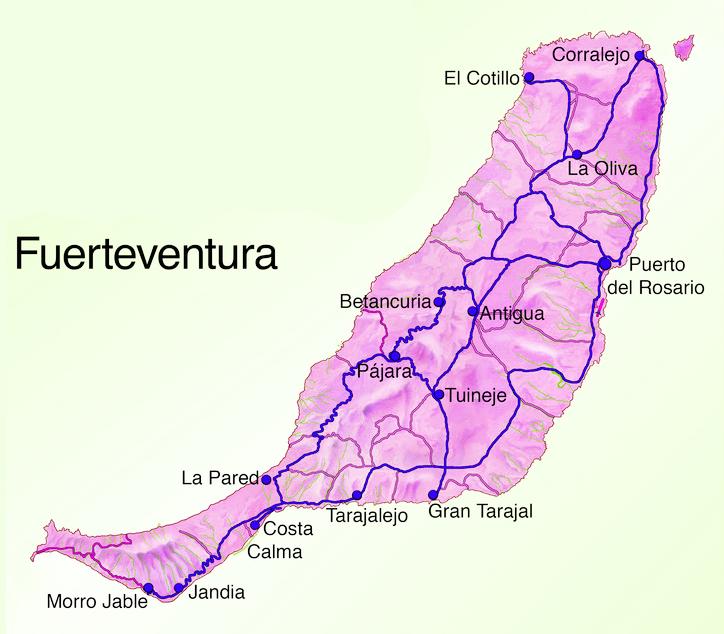 carte espagne fuerteventura