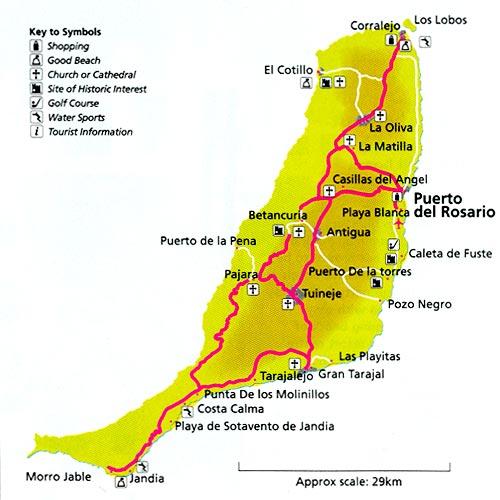 Carte Espagne Fuerteventura.Cartograf Fr L Espagne Les Iles Canaries Fuerteventura