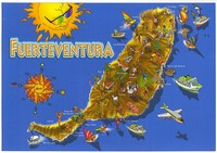 Carte de Fuerteventura décorative