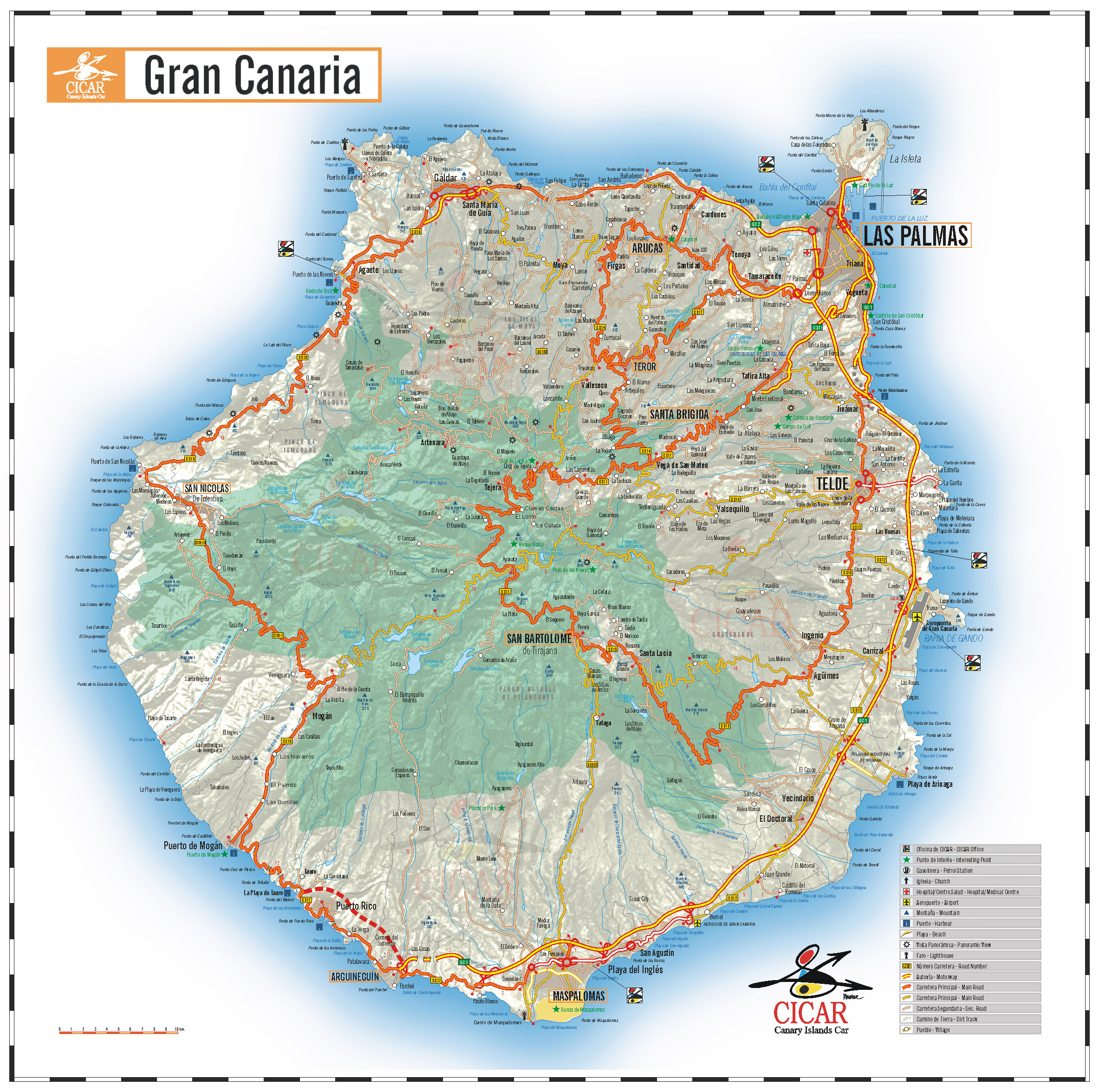 Cartograf.fr : L'Espagne : Les iles Canaries : Grande Canarie
