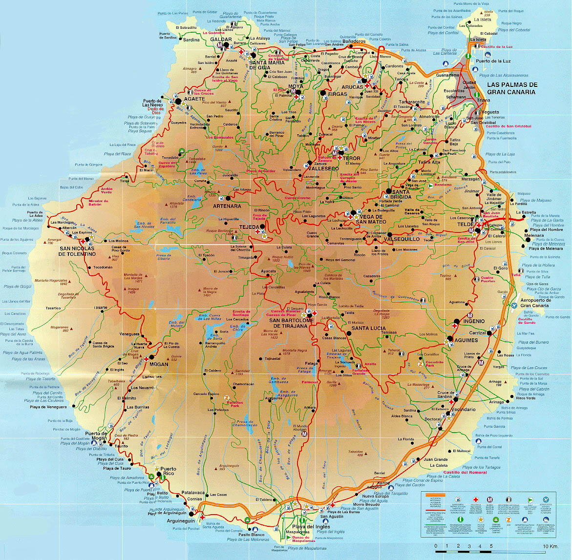 Carte Des Grandes Villes Espagne