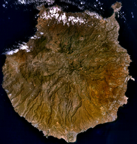 Carte de Grande Canarie satellite