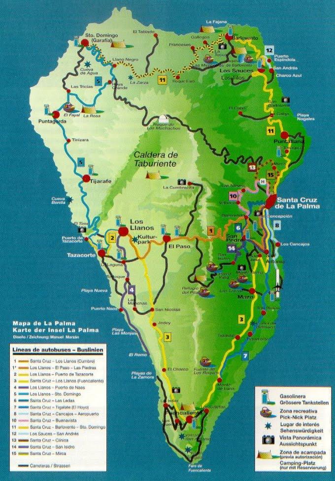 Cartograf.fr : L'Espagne : Les iles Canaries : La Palma