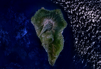 Carte de La Palma satellite