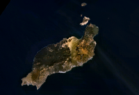 Carte Lanzarote satellite