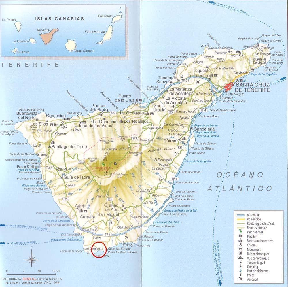 Carte Tenerife.Cartograf Fr L Espagne Les Iles Canaries Tenerife