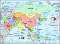 Carte des pays d'Asie