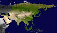 Carte satellite de l'Asie