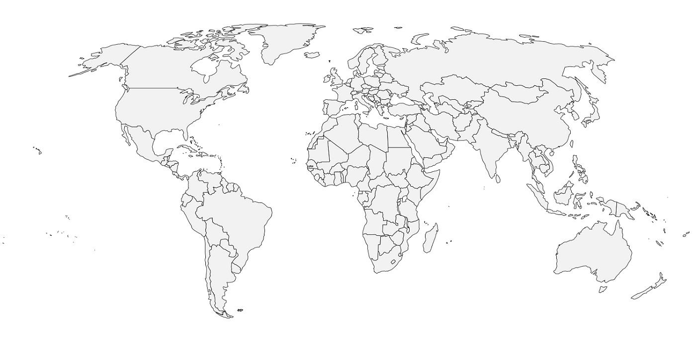 carte du monde a imprimer