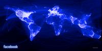 Carte des relations d'amitiés entre les utilisateurs de facebook dans le monde